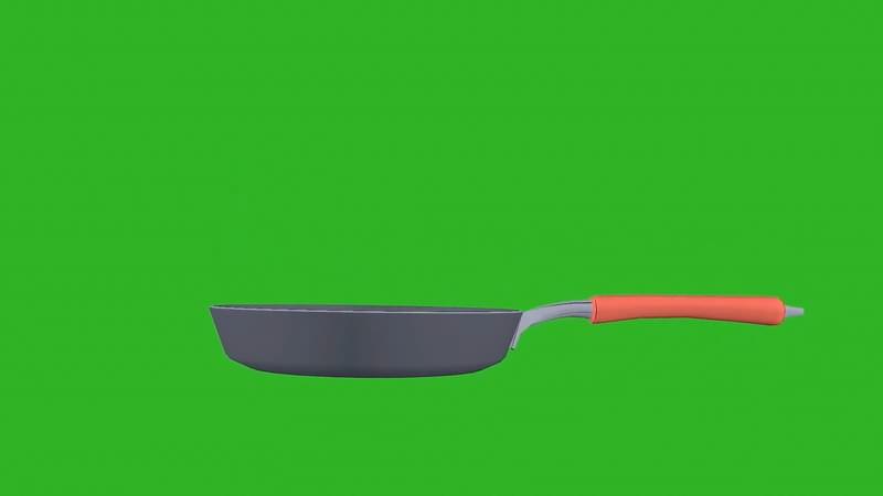 绿屏幕抠像平底锅视频素材