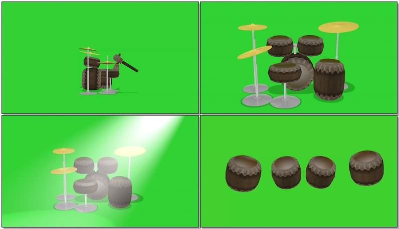 绿屏抠像视频素材架子鼓.jpg