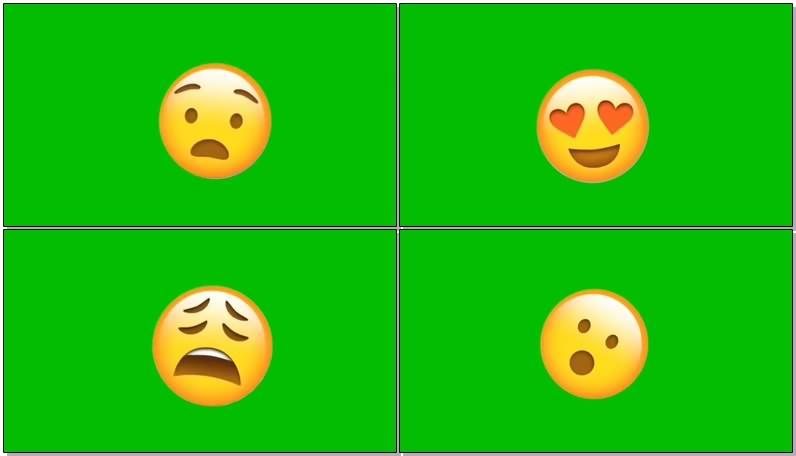 绿屏抠像视频素材卡通表情