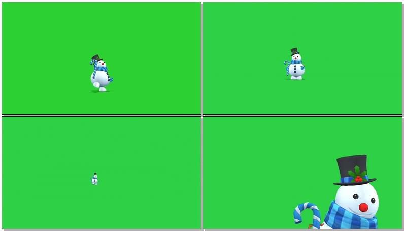 绿屏抠像视频素材圣诞雪人.jpg