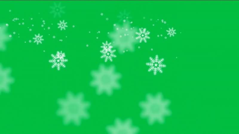 绿屏抠像视频素材雪花片.jpg
