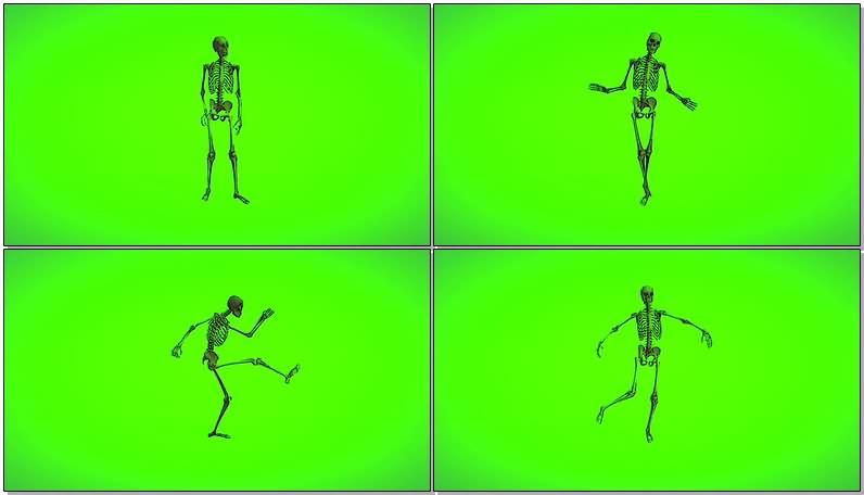 绿屏抠像视频素材骷髅骨架.jpg