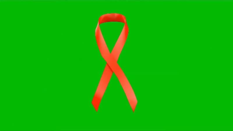 绿幕抠像视频素材艾滋病红丝带.jpg