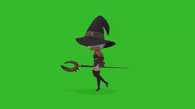 绿幕视频素材小魔女