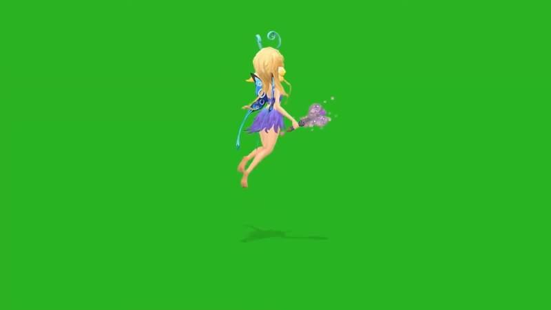 绿幕视频素材小仙女