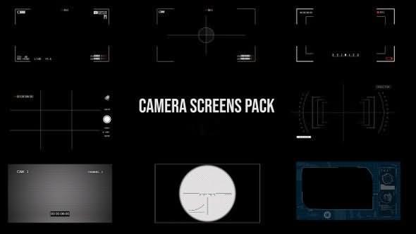 [4K]摄像机取景框界面视频素材[5个]