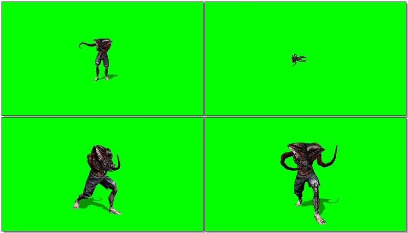 绿幕视频素材外星怪物