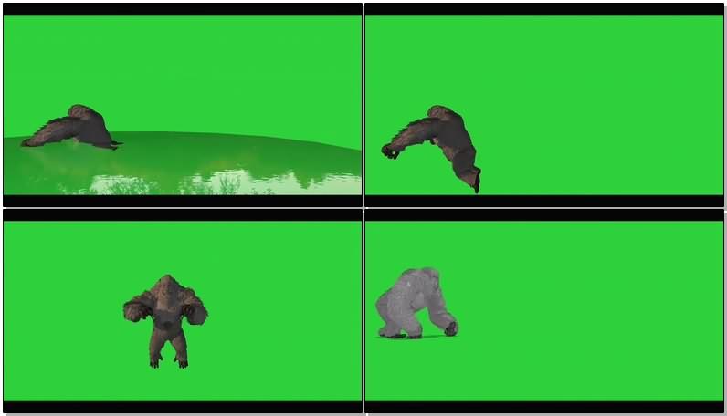 绿幕视频素材雪山巨人.jpg