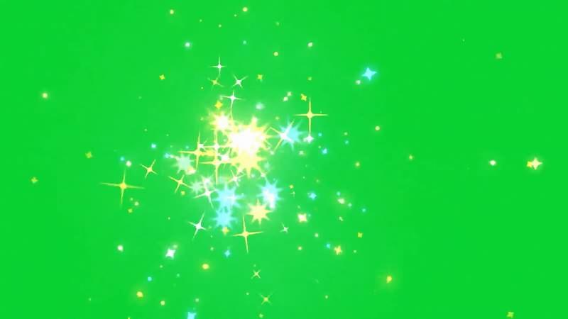 绿幕视频素材金光闪闪