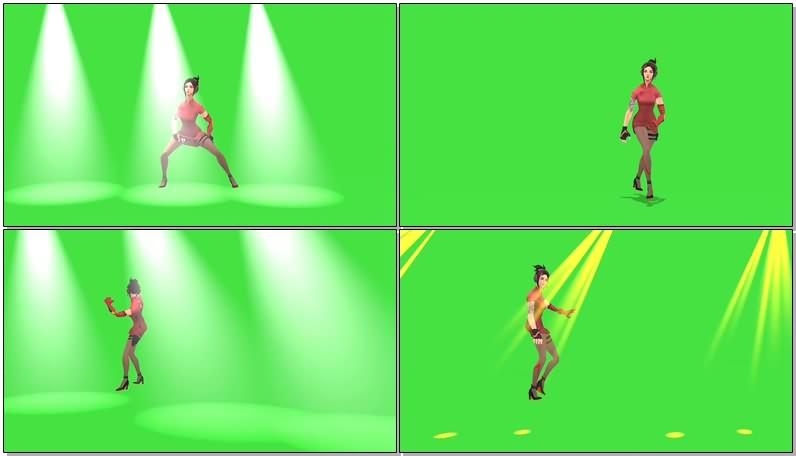 绿幕视频素材跳舞美女