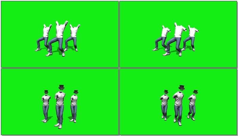 绿幕视频素材舞者