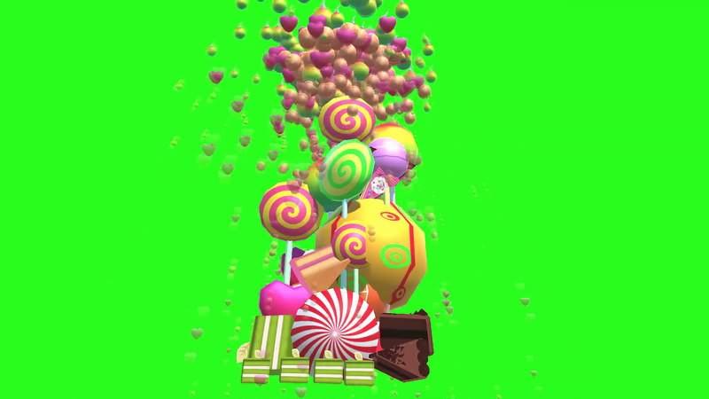 绿幕视频素材糖果