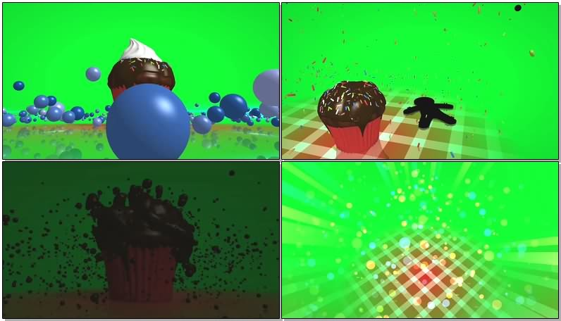绿幕视频素材布丁
