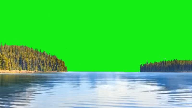 绿幕视频素材湖面
