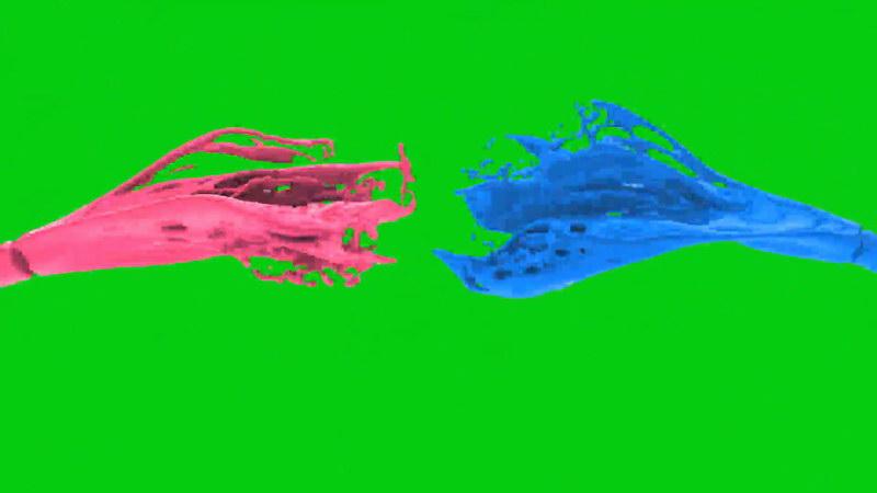 绿幕视频素材彩色染料