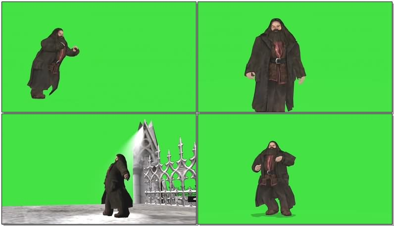 绿幕视频素材矮人金霹