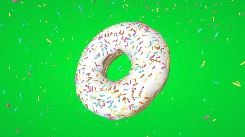 绿幕视频素材甜甜圈