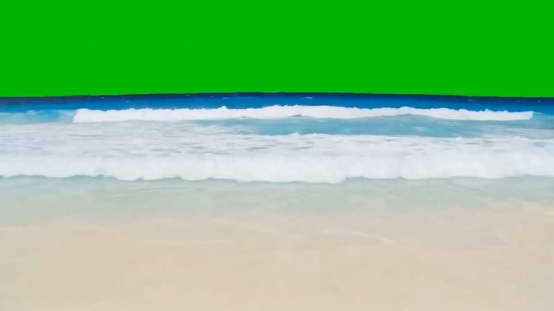 绿幕视频素材沙滩