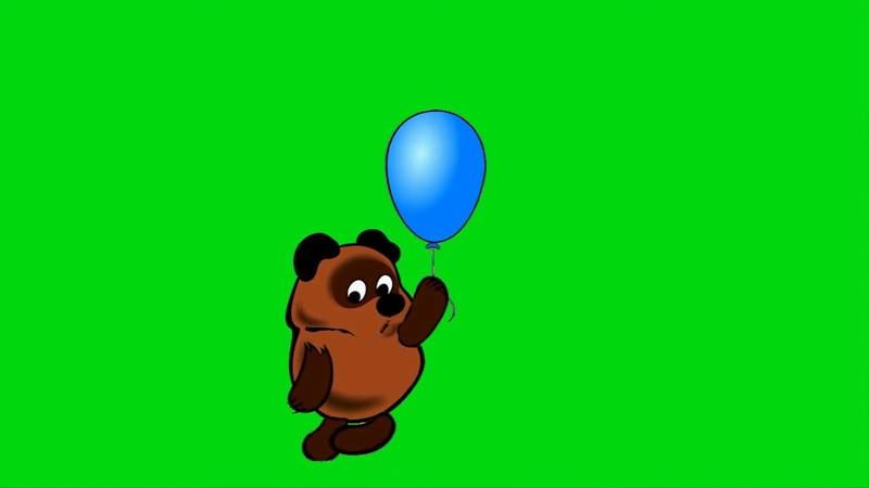绿幕视频素材维尼熊