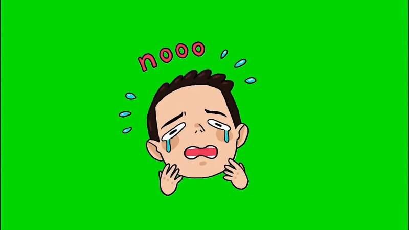 绿幕视频素材哭泣的表情