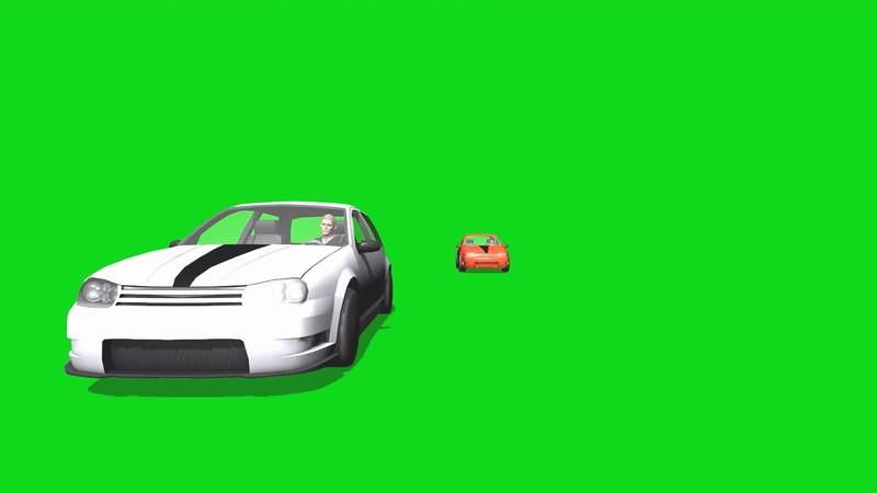 绿幕视频素材跑车