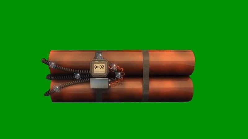 绿幕视频素材定时炸弹