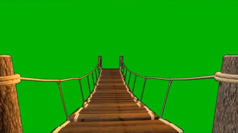 绿幕视频素材独木桥