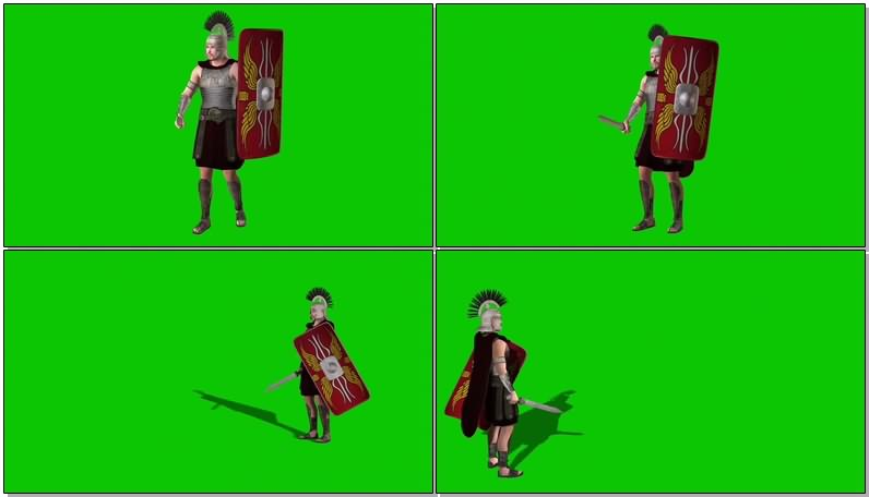 绿幕视频素材罗马勇士