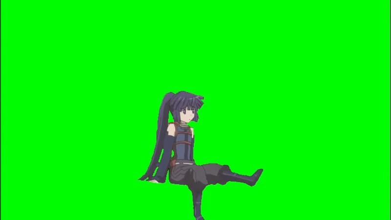 绿幕视频素材卡通妹子.jpg