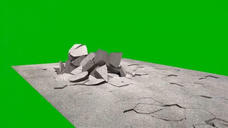 绿幕视频素材破碎的地面.jpg