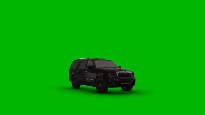 绿幕视频素材林肯轿车