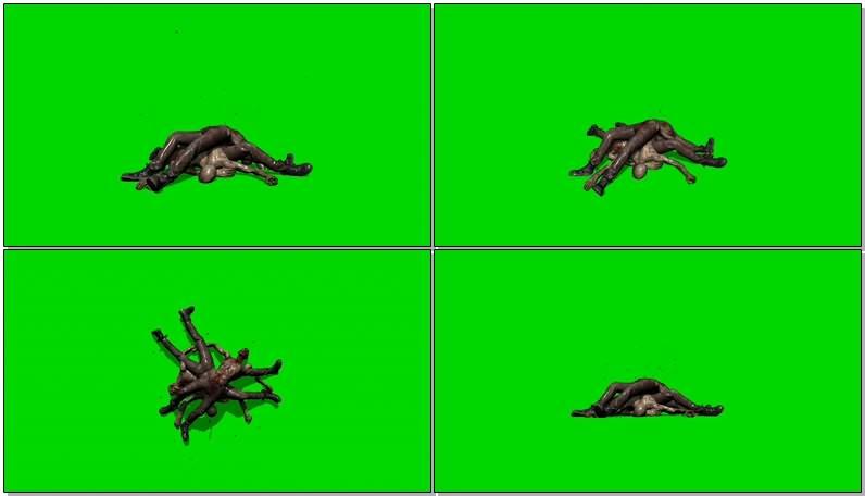 绿幕视频素材尸体