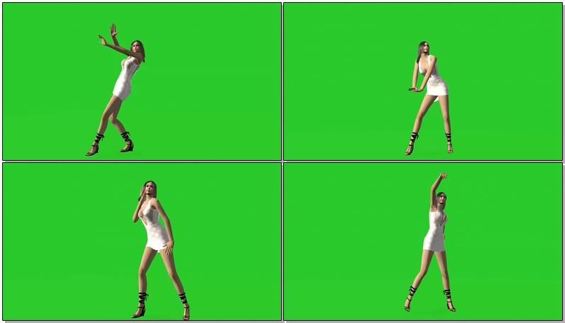 绿幕视频素材性感舞女