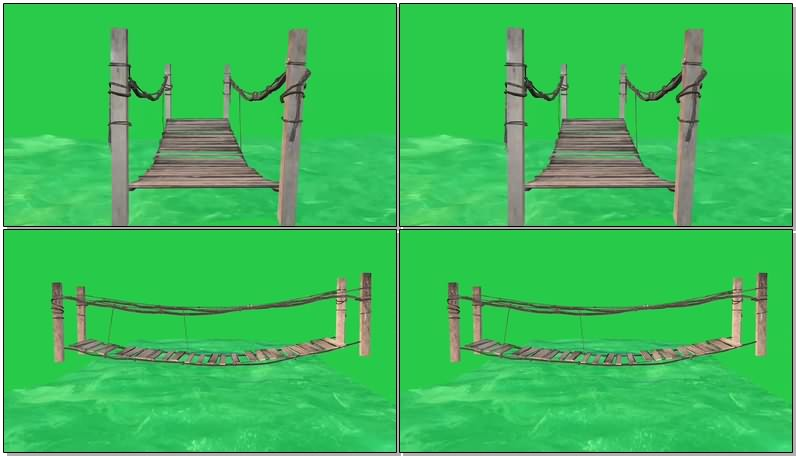 绿幕视频素材木桥