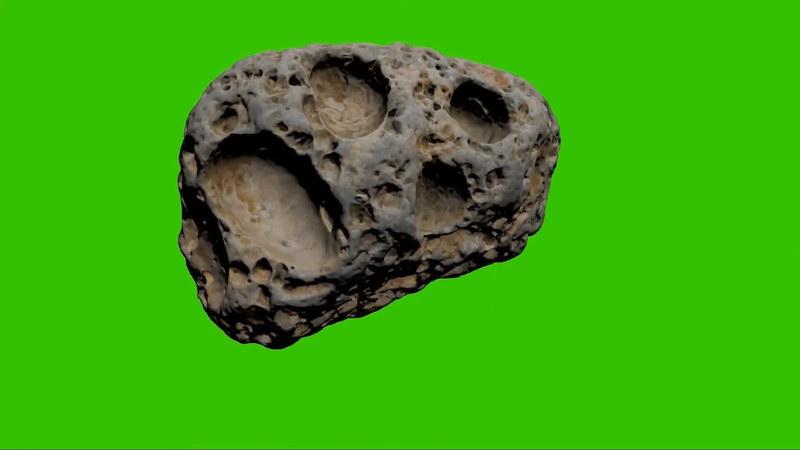 绿幕视频素材陨石