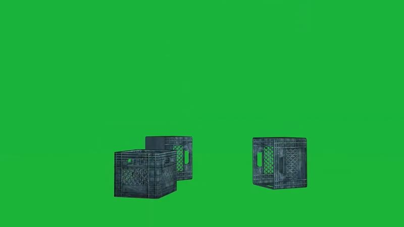 绿幕视频素材塑料筐