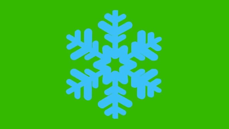 绿幕视频素材3D雪花片