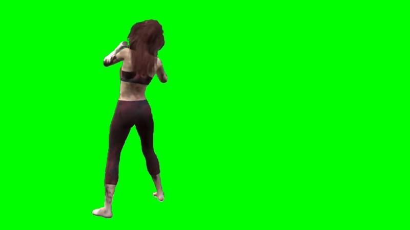 绿幕视频素材女僵尸