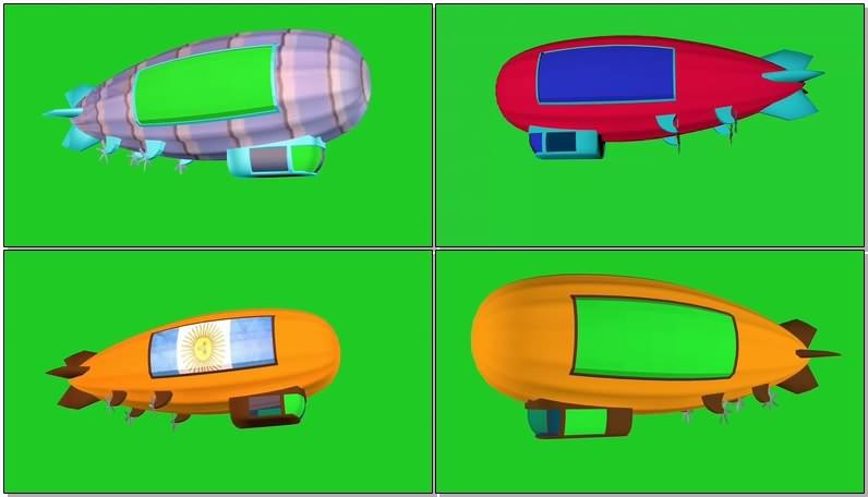绿幕视频素材热气球