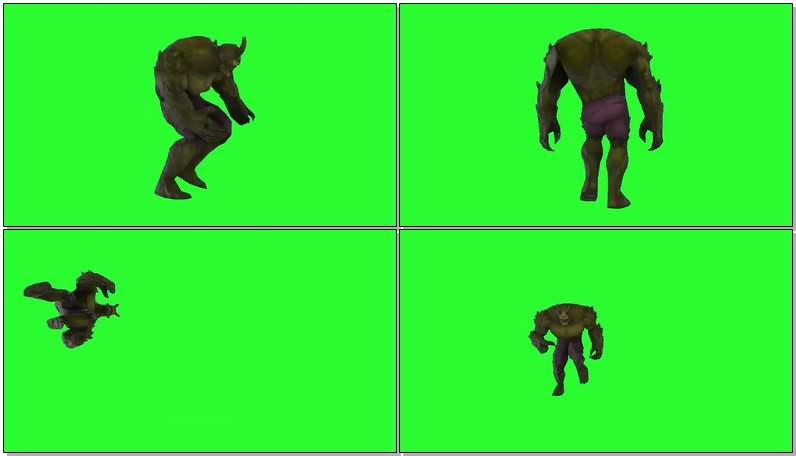 绿幕视频素材怪物