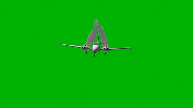 绿幕视频素材坠毁的飞机
