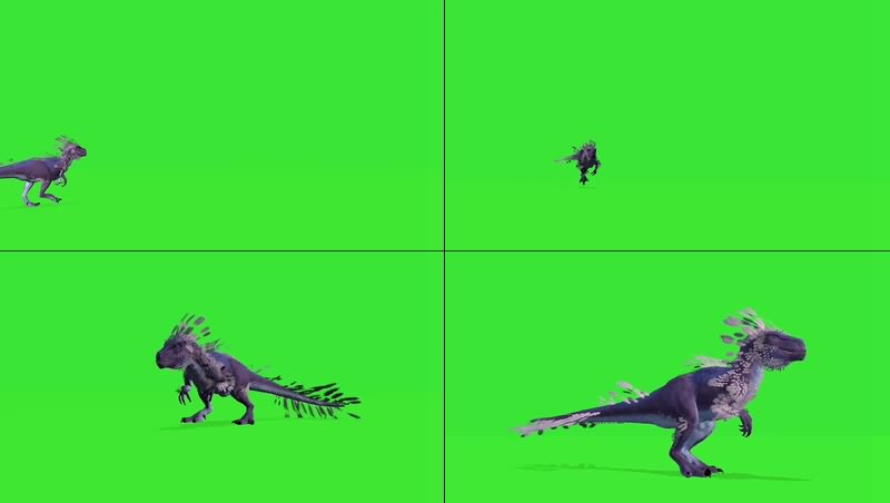 绿幕视频素材变异恐龙