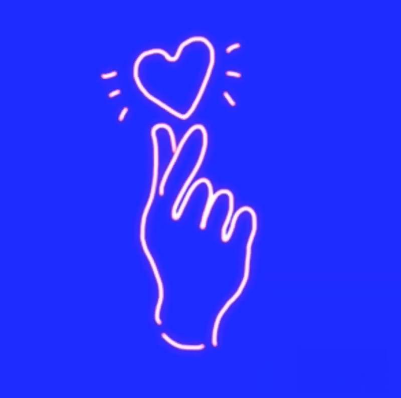绿幕视频素材爱心手势
