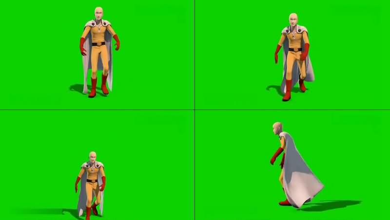 绿幕视频素材一拳超人