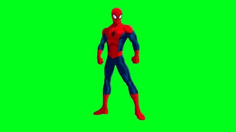 绿幕视频素材蜘蛛侠