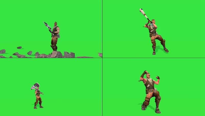 绿幕视频素材游戏人物