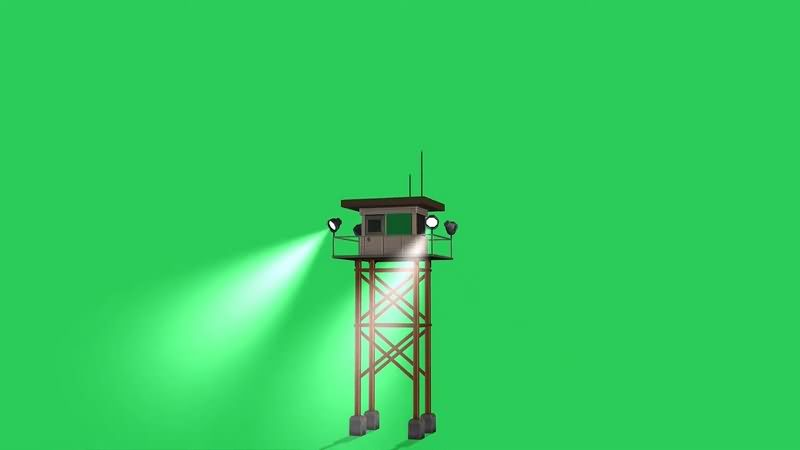 绿幕视频素材塔楼