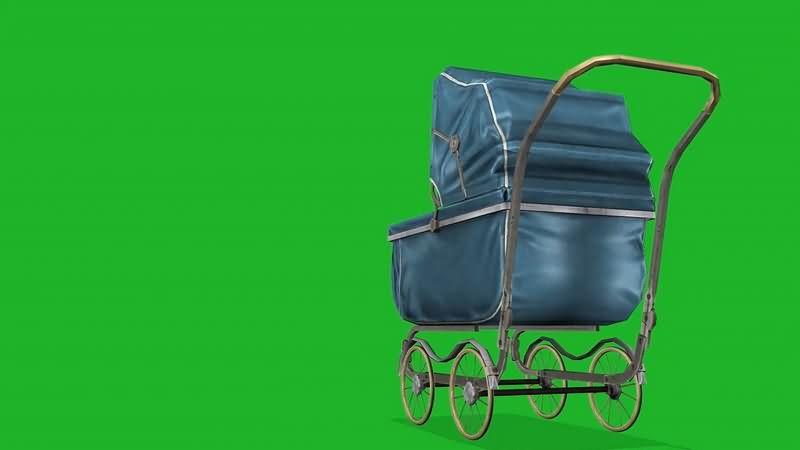 绿幕视频素材婴儿车