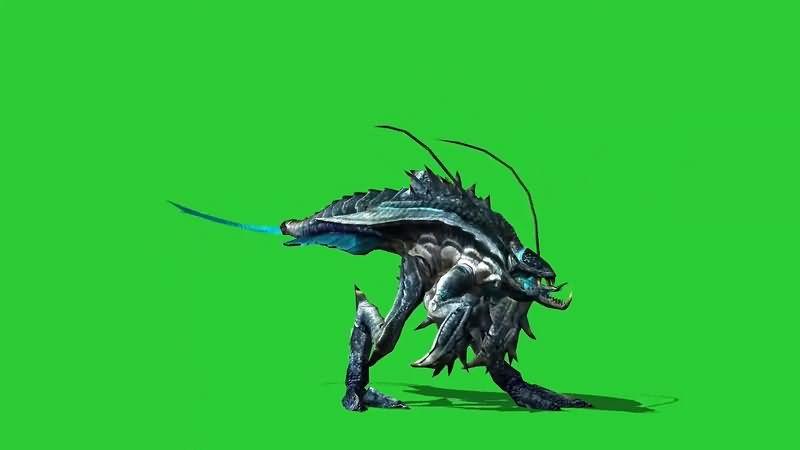 绿幕视频素材外星昆虫