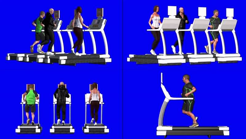 绿幕视频素材跑步机
